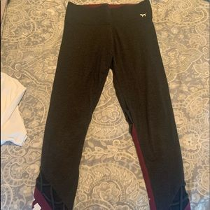 PINK (brand) Greyish/ black burgundy leggings